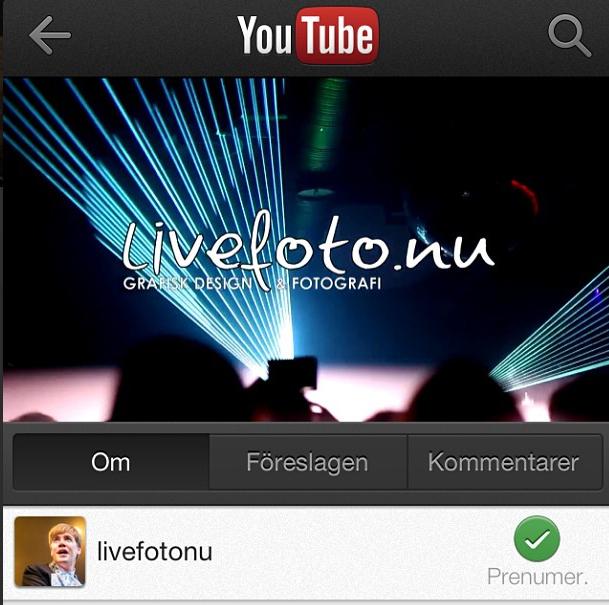 livefoto.nu på Youtube