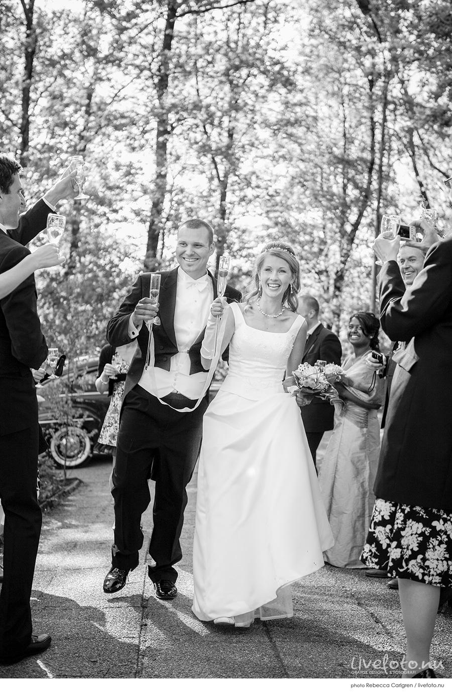 Bröllopsfoto i Borås: Sandra & Kristian Oxelbark
